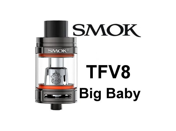 smok smoktech tfv8 big baby clearomizer gun metal