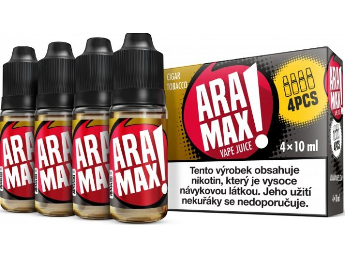 e liquid aramax 4pack cigar tobacco 4x10ml 3mg