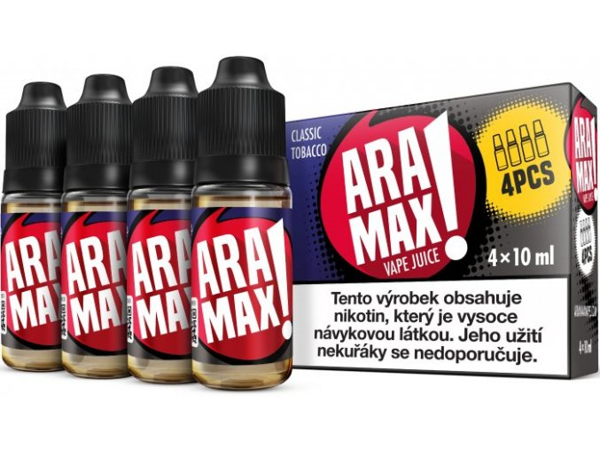 e liquid aramax 4pack classic tobacco 4x10ml 3mg