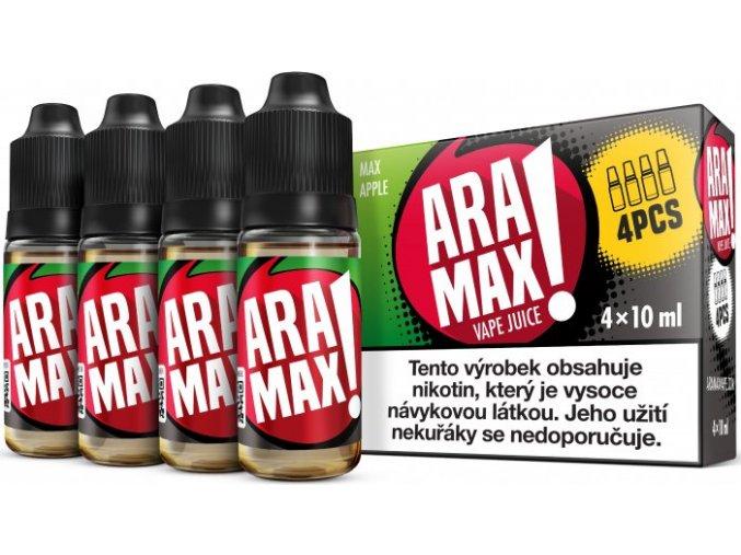 e liquid aramax 4pack max apple 4x10ml 3mg