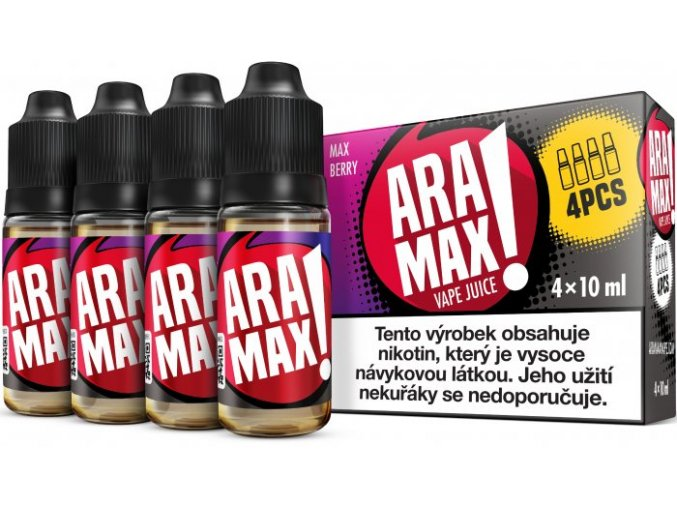 e liquid aramax 4pack max berry 4x10ml 3mg