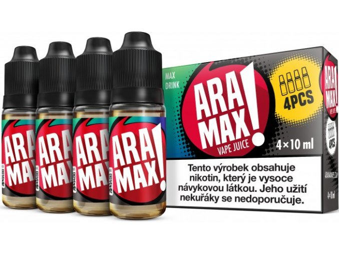 e liquid aramax 4pack max drink 4x10ml 3mg