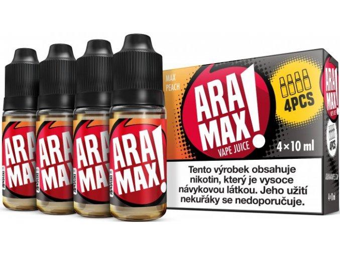 e liquid aramax 4pack max peach 4x10ml 3mg