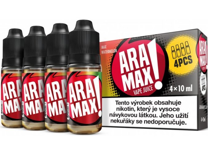 e liquid aramax 4pack max watermelon 4x10ml 3mg