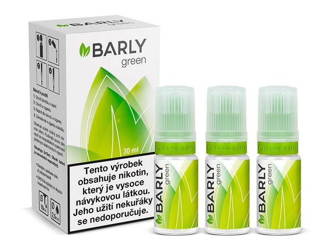 e liquid barly green 30ml tabak