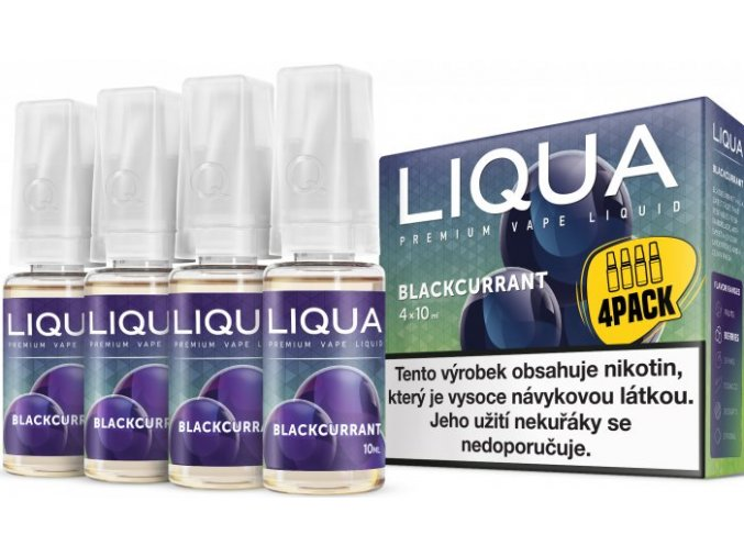 e liquid liqua elements 4pack blackcurrant 4x10ml cerny rybiz