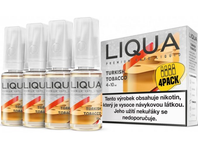 e liquid liqua elements 4pack turkish tobacco 4x10ml turecky tabak