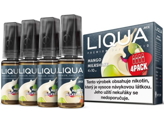 e liquid liqua cz mix 4pack mango milkshake 4x10ml