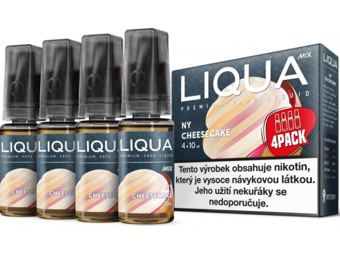 e liquid liqua cz mix 4pack ny cheesecake 4x10ml