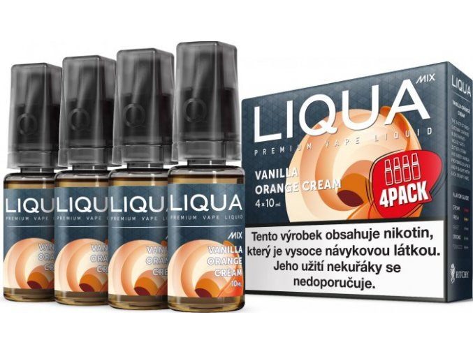 e liquid liqua cz mix 4pack vanilla orange cream 4x10ml