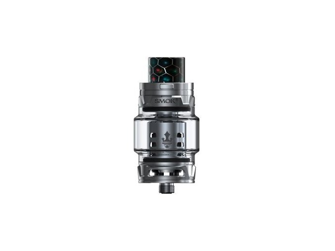 smok smoktech tfv12 prince cloud beast clearomizer silver stribrny