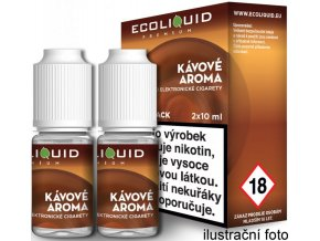 e liquid ecoliquid premium 2pack coffee 2x10ml kava
