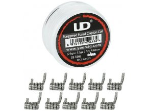 ud staggered fused clapton zhavici spiralky ss316 10ks