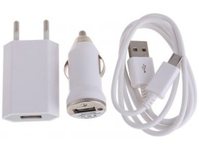 univerzalni nabijecka 3v1 micro usb 1a white bila pro elektronicke cigarety
