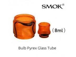 nahradni pyrexove sklo sklicko a naustek resin tfv12 prince 8ml orange oranzove