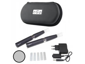Elektronická cigareta eGo-T 1100mAh nerezová, manual, 2ks
