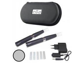 elektronicka cigareta ego t nerezova 1100mah sada 2 ks