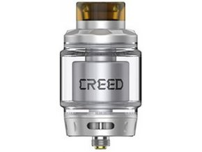 geekvape creed rta clearomizer silver stribrny