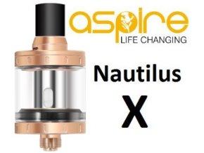 clearomizer aspire nautilus x zlaty gold 2ml