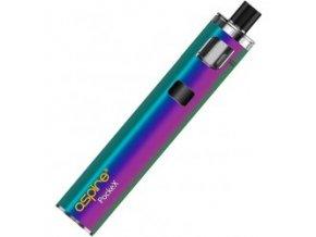 elektronicka cigareta aspire pockex duhova rainbow 1500mah
