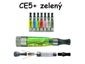Clearomizér CE5+ zelený s dlouhým knotem