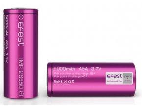 baterie efest imr 26650 5000mah 45a 37v