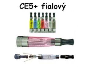Clearomizér CE5+ fialový s dlouhým knotem