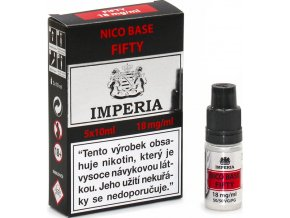 nikotinova baze cz imperia 5x10ml pg50vg50 18mg