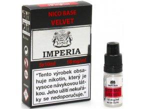 nikotinova baze cz imperia velvet 5x10ml pg20vg80 18mg