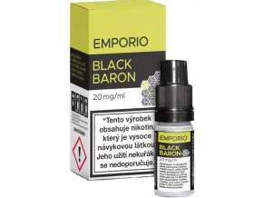 e liquid emporio salt black baron 10ml 20mg
