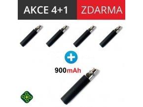 baterie ego 900mah cerna black 4 plus 1 zdarma elektronicka cigareta
