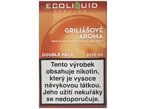 e liquid ecoliquid premium 2pack griliasove aroma 2x10ml