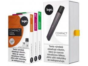 jti logic compact starter kit elektronicka cigareta 350mah seda grey