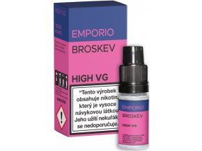 e liquid emporio high vg peach broskev 10ml