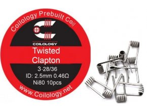 coilology twisted clapton predmotane spiralky ni80 046ohm 10ks