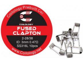 coilology fused clapton predmotane spiralky ss316 047ohm 10ks