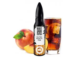 prichute shake and vape riot squad black edition ultra peach tea 15ml