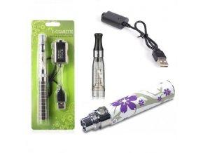 Elektronická cigareta eGo-CE4 900mAh fialová květinka 1ks