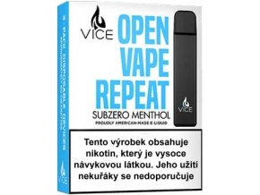 vice elektronicka cigareta subzero menthol 20mg 3pack