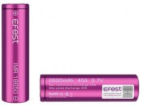 baterie efest typ 18650 2600mah 40a