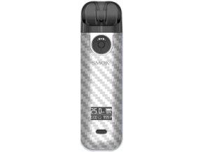 smoktech novo 4 elektronicka cigareta 800mah silver carbon fiber