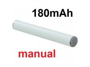 Baterie 180mAh 510 bílá, manual pro elektronické cigarety