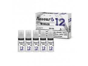 flavourit pg50 vg50 12mg 5x10ml winger
