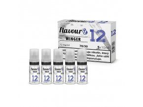 flavourit pg30 vg70 6mg 5x10ml winger