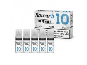 flavourit pg30 vg70 10mg 5x10ml defender