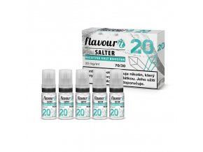 flavourit pg30 vg70 20mg 5x10ml salter booster