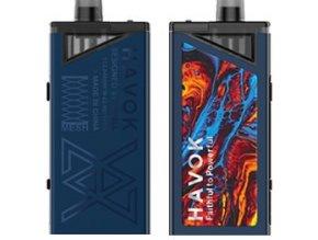 uwell havok v1 pod 65w grip full kit 1800mah blue modry