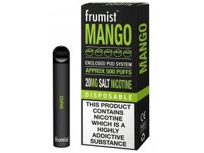 jednorazova elektronicka cigareta frumist mango ledove mango 20mg