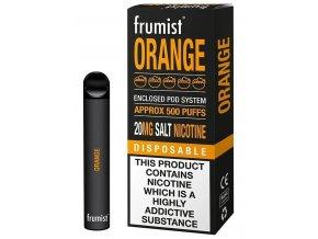 jednorazova elektronicka cigareta frumist orange pomeranc 20mg