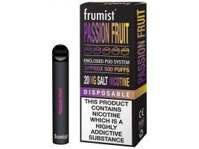 jednorazova elektronicka cigareta frumist passion fruit 20mg